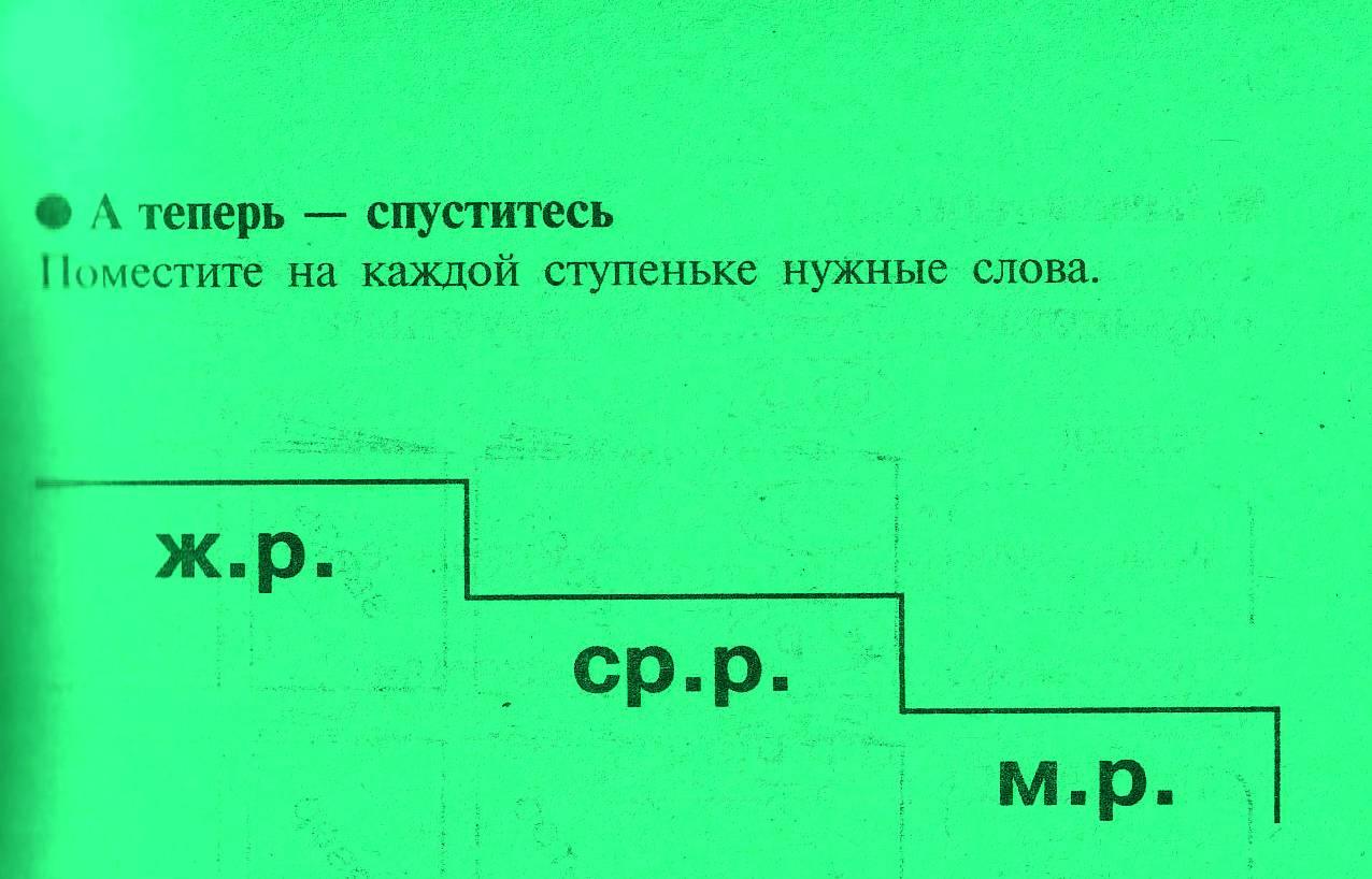 конспект по русскому языку род им н существительных