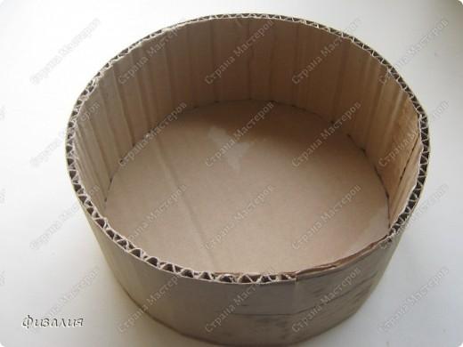 Сделать круглую коробку из картона своими руками