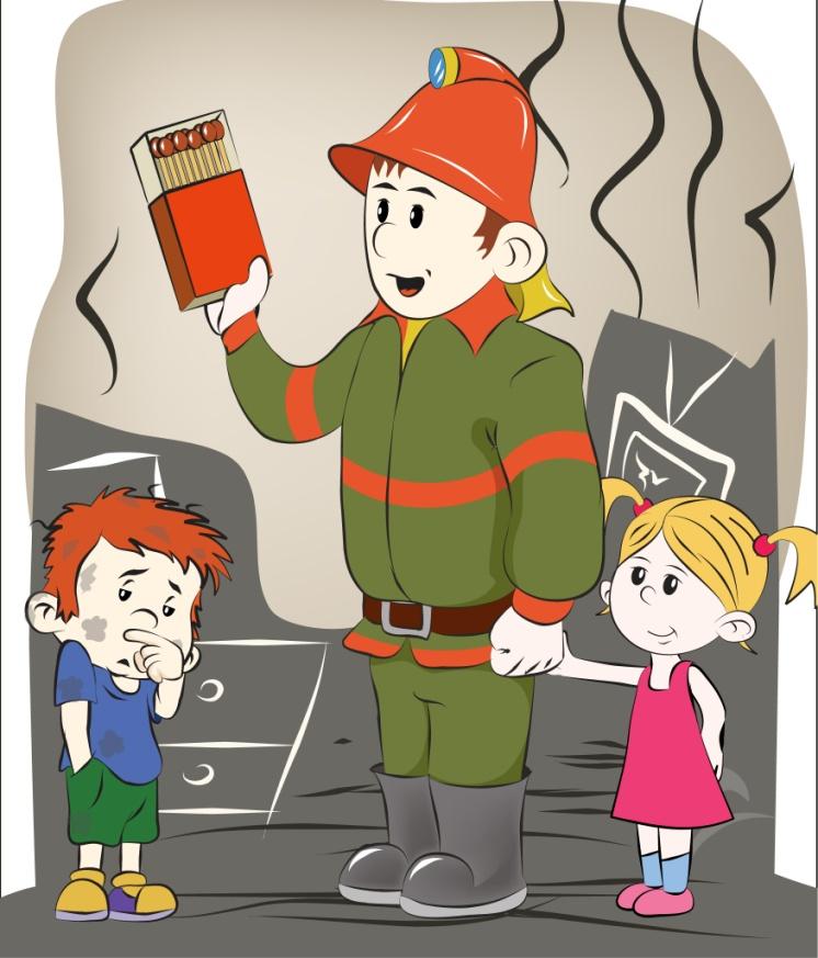 Картинки детей о пожар