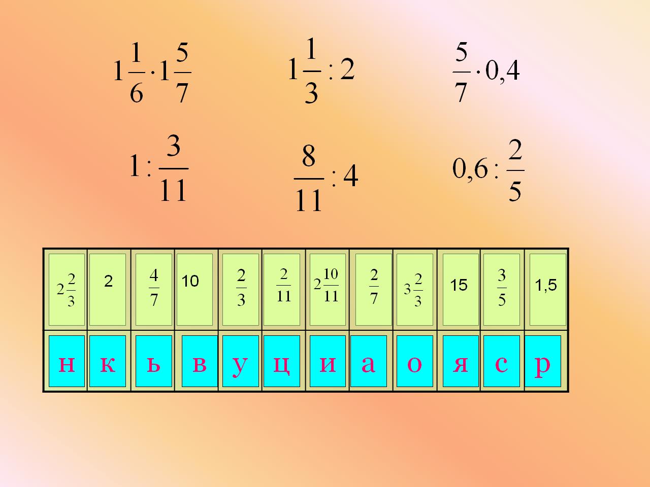 задачи и примеры с дробями 4 класс