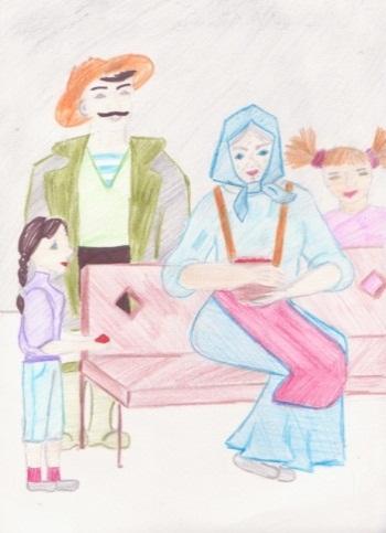 Рисунок бабушка с малиной астафьев