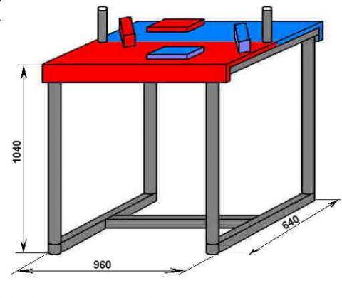 Как своими руками сделать стол для армрестлинга