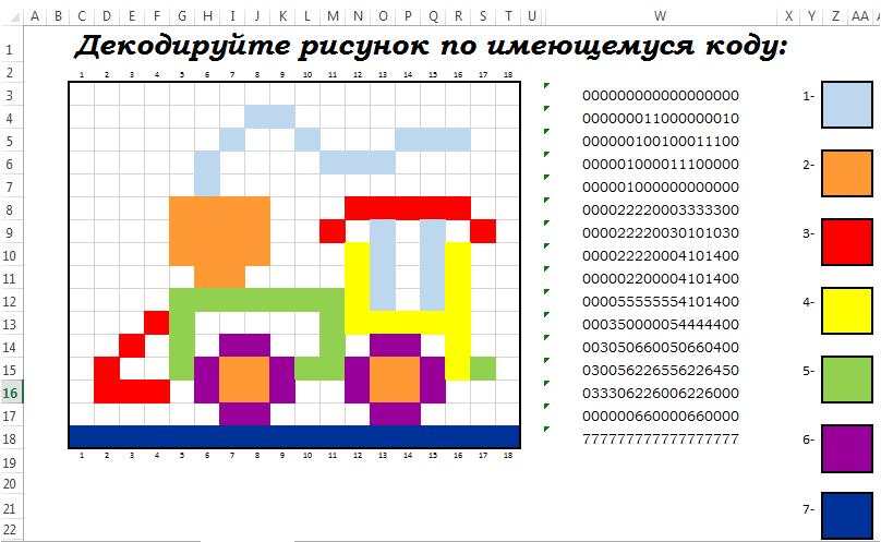 Тест по теме кодирование графической информации