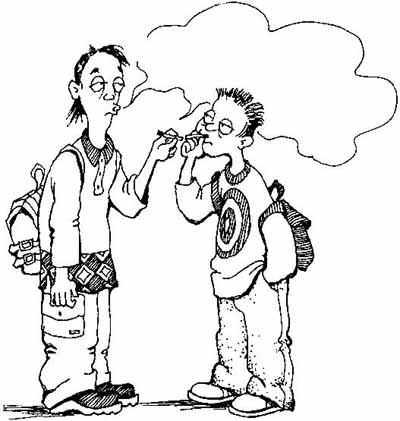 Рисунки на тему курения в черно-белом формате
