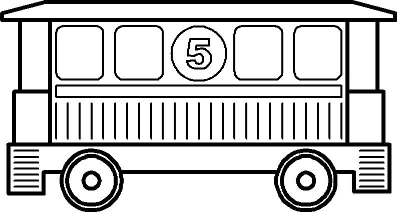 Картинка раскраска вагоны