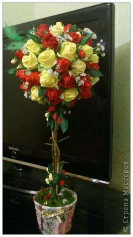 Дерево с розами своими руками фото